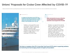 COVID 19 Risk Analysis Mitigation Policies Ocean Liner Sector Unions Proposals For Cruise Crew Affected By COVID 19 Mockup PDF