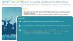 COVID Business COVID 19 Recovery Strategy Accelerate Migration To The Public Cloud Ppt Ideas Graphics Example PDF