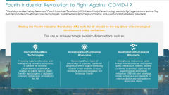COVID Business Fourth Industrial Revolution To Fight Against COVID 19 Ppt Summary Good PDF