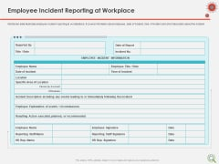 COVID Implications On Manufacturing Business Employee Incident Reporting At Workplace Portrait PDF