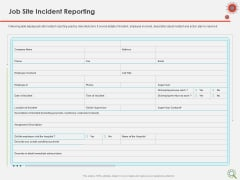 COVID Implications On Manufacturing Business Job Site Incident Reporting Ppt Infographics Diagrams PDF