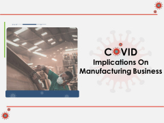COVID Implications On Manufacturing Business Ppt PowerPoint Presentation Complete Deck With Slides