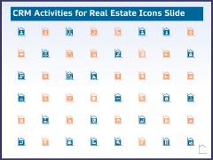 CRM Activities For Real Estate Icons Slide Ppt Slides Picture PDF