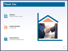 CRM Activities For Real Estate Thank You Ppt Summary Slide Portrait
