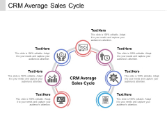 CRM Average Sales Cycle Ppt PowerPoint Presentation Infographic Template Styles Cpb Pdf