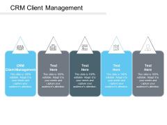 CRM Client Management Ppt PowerPoint Presentation Icon Gridlines Cpb