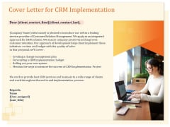 CRM Consulting Cover Letter For CRM Implementation Ppt Infographics Example PDF