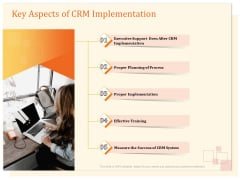 CRM Consulting Key Aspects Of CRM Implementation Ppt Show Templates PDF