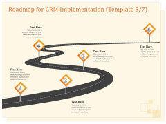 CRM Consulting Roadmap For CRM Implementation Five Step Process Ppt Infographics Gallery PDF