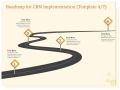CRM Consulting Roadmap For CRM Implementation Four Step Process Ppt Icon Designs Download PDF