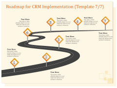 CRM Consulting Roadmap For CRM Implementation Seven Step Process Ppt Icon Introduction PDF