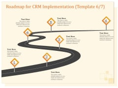 CRM Consulting Roadmap For CRM Implementation Six Step Process Ppt Professional Outline PDF