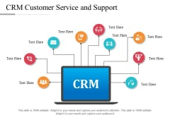 CRM Customer Service And Support Ppt PowerPoint Presentation Gallery Display