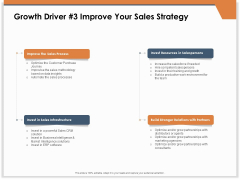 CRM For Real Estate Marketing Growth Driver 3 Improve Your Sales Strategy Ppt PowerPoint Presentation Portfolio Slideshow PDF