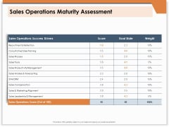 CRM For Real Estate Marketing Sales Operations Maturity Assessment Ppt PowerPoint Presentation Model Summary PDF