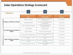 CRM For Real Estate Marketing Sales Operations Strategy Scorecard Ppt PowerPoint Presentation Show Portfolio PDF