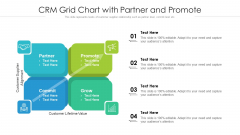 CRM Grid Chart With Partner And Promote Ppt PowerPoint Presentation Gallery Ideas PDF