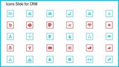 CRM Icons Slide For CRM Ppt Slides Format PDF