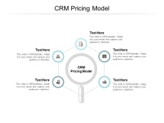 CRM Pricing Model Ppt PowerPoint Presentation Pictures Images Cpb