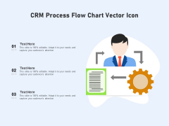 CRM Process Flow Chart Vector Icon Ppt PowerPoint Presentation Ideas Display PDF