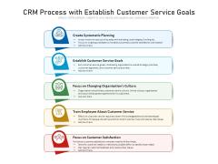 CRM Process With Establish Customer Service Goals Ppt PowerPoint Presentation Gallery Graphics Tutorials PDF