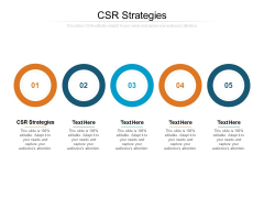 CSR Strategies Ppt PowerPoint Presentation Influencers Cpb