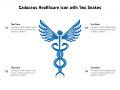 Caduceus Healthcare Icon With Two Snakes Ppt PowerPoint Presentation File Slide Portrait PDF