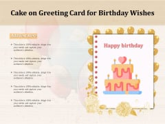 Cake On Greeting Card For Birthday Wishes Ppt PowerPoint Presentation Show PDF