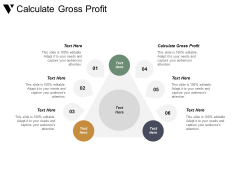Calculate Gross Profit Ppt PowerPoint Presentation Pictures Elements