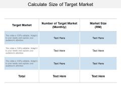 Calculate Size Of Target Market Ppt PowerPoint Presentation Portfolio Master Slide