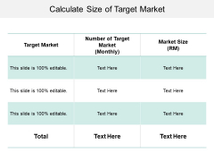 Calculate Size Of Target Market Ppt PowerPoint Presentation Summary Gridlines