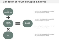 Calculation Of Return On Capital Employed Ppt PowerPoint Presentation Professional Layouts