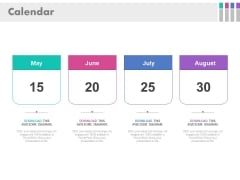 Calendar For Schedule And Planning Powerpoint Slides
