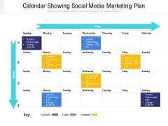 Calendar Showing Social Media Marketing Plan Ppt PowerPoint Presentation Gallery Ideas PDF