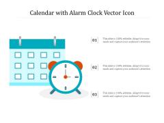 Calendar With Alarm Clock Vector Icon Ppt PowerPoint Presentation Gallery Skills PDF