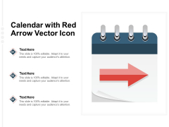 Calendar With Red Arrow Vector Icon Ppt PowerPoint Presentation Slides Shapes PDF