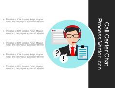 Call Center Chat Process Vector Icon Ppt PowerPoint Presentation Gallery Background PDF