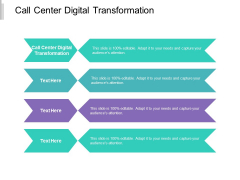 Call Center Digital Transformation Ppt PowerPoint Presentation Infographic Template Structure Cpb