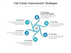 Call Center Improvement Strategies Ppt PowerPoint Presentation Inspiration Mockup Cpb
