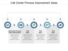 Call Center Process Improvement Ideas Ppt PowerPoint Presentation Show Skills Cpb