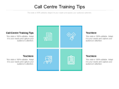 Call Centre Training Tips Ppt PowerPoint Presentation Portfolio Ideas Cpb