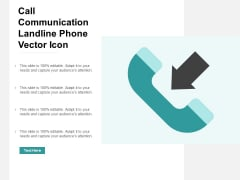 Call Communication Landline Phone Vector Icon Ppt Powerpoint Presentation Model Influencers