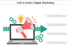 Call To Action Digital Marketing Ppt Powerpoint Presentation Styles Master Slide