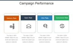 Campaign Performance Ppt Powerpoint Presentation Summary Infographics
