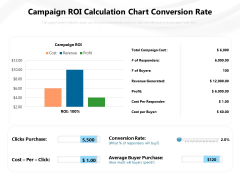Campaign ROI Calculation Chart Conversion Rate Ppt PowerPoint Presentation Gallery Design Ideas PDF