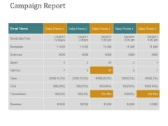 Campaign Report Ppt PowerPoint Presentation Pictures Outfit
