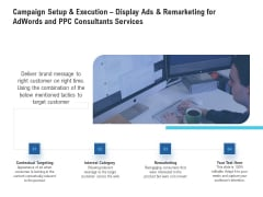 Campaign Setup And Execution Display Ads And Remarketing For Adwords And PPC Consultants Services Introduction PDF