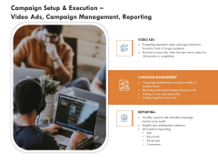 Campaign Setup And Execution Video Ads Campaign Management Reporting Diagrams PDF