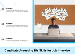 Candidate Assessing His Skills For Job Interview Ppt PowerPoint Presentation Icon Template PDF