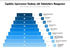 Capability Improvement Roadmap With Stakeholders Management Ppt PowerPoint Presentation File Templates PDF
